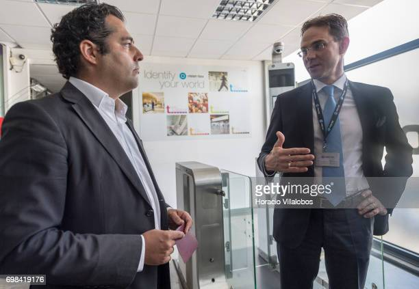Pedro Torres Head of Product Innovation and Marketing Management briefs on identification equipment the European Commission VicePresident Jyrki...