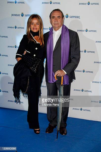 Pedro Trapote and Begona Garcia attend art collection for Bombay Sapphire photocall at Madrid Cityhall on November 22 2011 in Madrid Spain