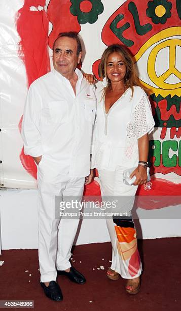 Pedro Trapote and Begona Garcia Vaquero attend Flower Power Ibiza Party 2014 at Pacha Club on August 12 2014 in Ibiza Spain