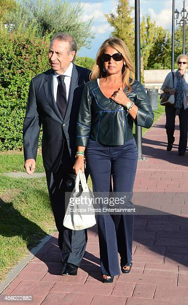 Pedro Trapote and Begona Garcia Vaquero attend the funeral chapel for Rafael Lozano on September 23 2014 in Madrid Spain