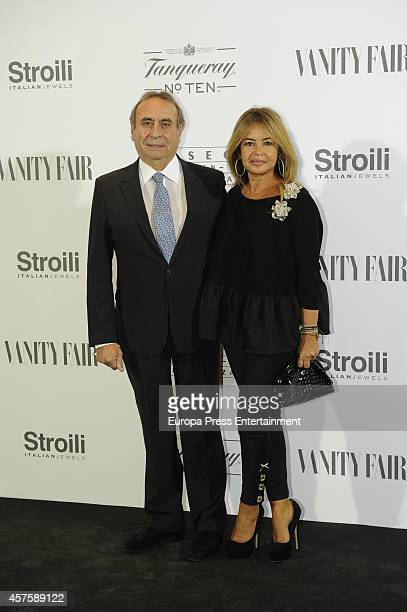Pedro Trapote and Begona Garcia Vaquero attend the 'Hubert de Givenchy' exhibition opening cocktail on October 20 2014 in Madrid Spain