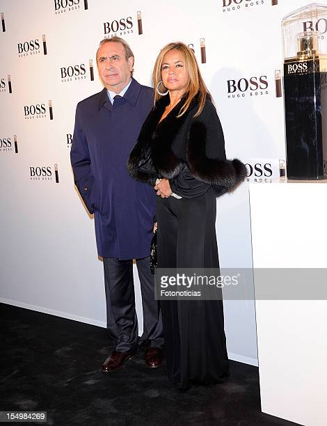 Pedro Trapote and Begona Garcia Vaquero attend the launch of 'Boss Nuit Pour Femme' fragrance at the Palacio de Neptuno on October 29 2012 in Madrid...