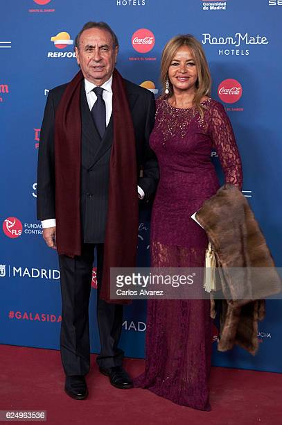 Pedro Trapote and wife Begona Garcia Vaquero attend 'Gala Sida' 2016 at Madrid City Hall on November 21 2016 in Madrid Spain
