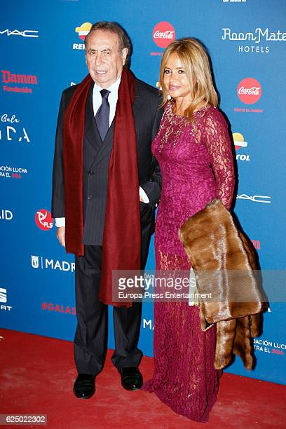 Pedro Trapote and wife Begona Garcia Vaquero attend 'Gala Sida' 2016 at Cibeles Palace on November 21 2016 in Madrid Spain