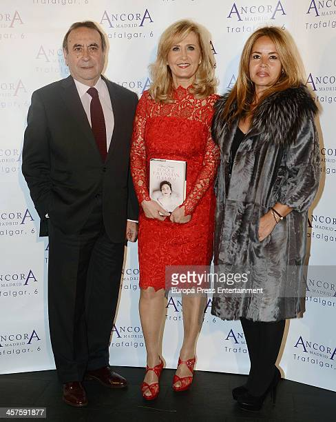 Pedro Trapote Nieves Herrero and Begona Garcia Vaquero attend 'Lo Que Escondian Sus Ojos' book presentation on December 17 2013 in Madrid Spain