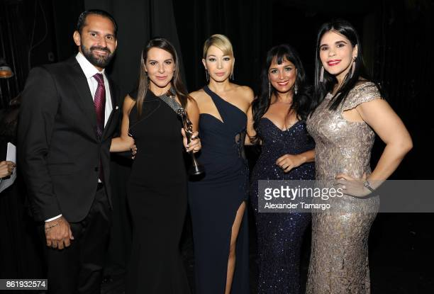 Pedro Ynoa Kate del Castillo Katherine Castro Celines Toribio and Claudia Brugal are seen at the 2nd Annual Women In Film Dominicana Iris Movie...