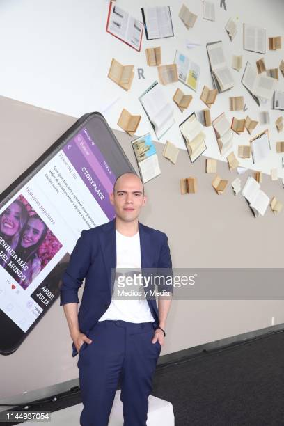 Pedro Zurita poses for photos during 'Story Place' App Launch on April 24 2019 in Mexico City Mexico