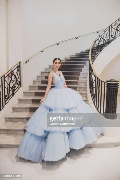 Peechaya Wattanamontree leaves the Martinez Hotel during the 72nd annual Cannes Film Festival on May 17, 2019 in Cannes, France.