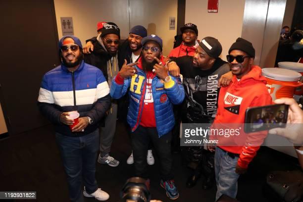 Peedi Crakk, Beanie Sigel, Neef Buck, Freeway, Freekey Zekey, Just Blaze, and Omillio Sparks attend D'usse Palooza at Barclays Center on December 13,...
