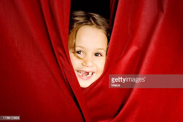 Peeking through the curtain rail