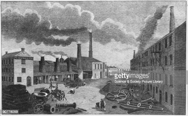 Peel and Williams Foundry Manchester 1814 Drawing from the Goodrich collection
