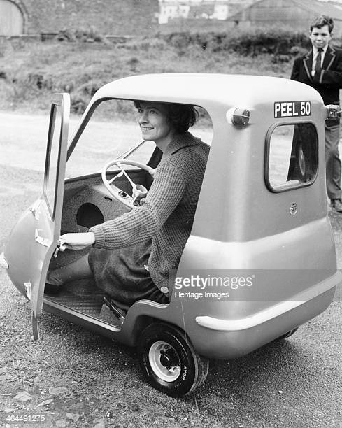 Peel P50, . The Peel range of 3-wheeled cars first appeared in 1962 at the London Motor Show. The Peel P50 was produced by the Peel Engineering...