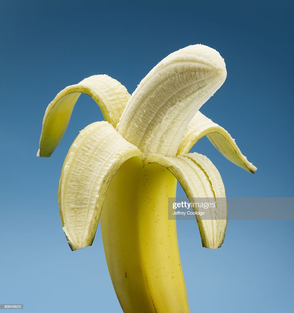 Peeled banana  : Stock Photo