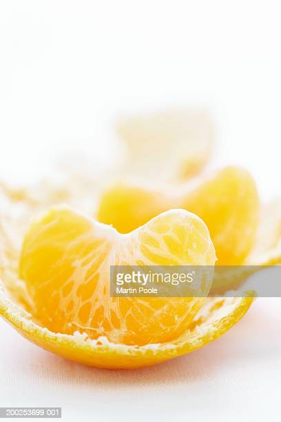 Peeled orange, close-up