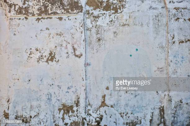 peeling paint texture - whitewashed stock photos and pictures