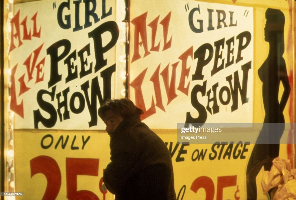 Peep Show on 42nd Street circa 1983 in New York.