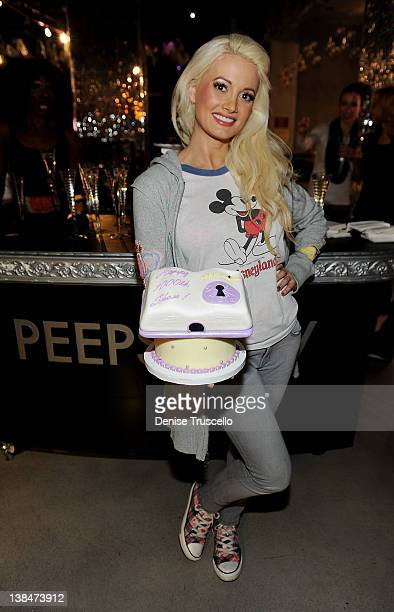Peepshow cast member Holly Madison celebrates 1000 shows at Planet Hollywood Resort Casino on February 6 2012 in Las Vegas Nevada