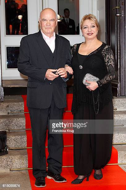 Peer Jaeger and Manon Strache attend the 'Sister Act The Musical' premiere at Stage Theater on October 16 2016 in Berlin Germany