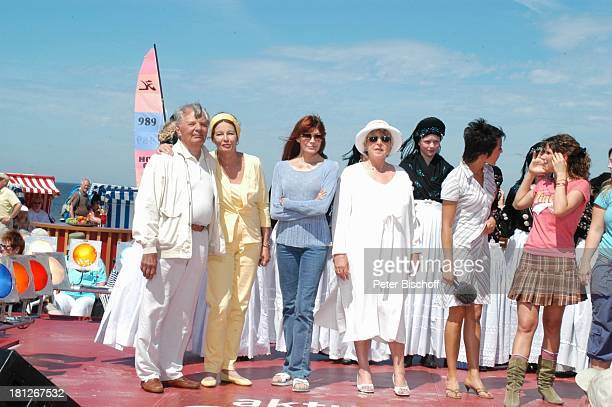 """Peer Schmidt, Ehefrau Helga Schlack, Katja Ebstein, Marie-Luise Marjan, Madeleine Wehle , Kati und Ela von der Musikgruppe """"Wonderwall"""", ,..."""