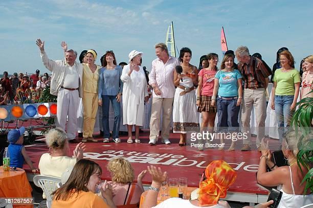 Peer Schmidt, Ehefrau Helga Schlack, Katja Ebstein, Marie-Luise Marjan, Ludger Abeln , Madeleine Wehle , Kati und Ela von der Musikgruppe...