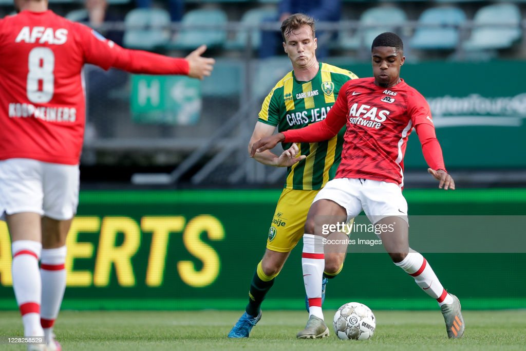 Peet Bijen Of Ado Den Haag Myron Boadu Of Az Alkmaar During The Club News Photo Getty Images