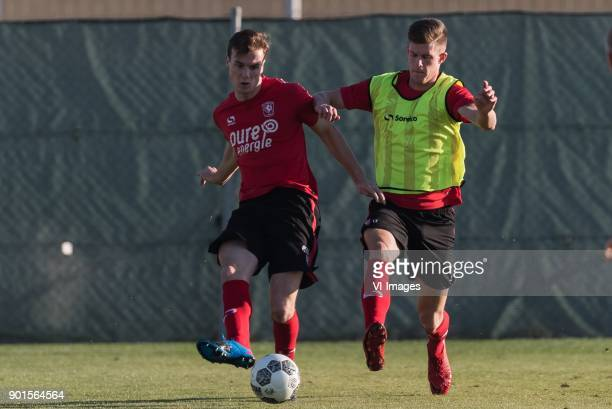 Peet Bijen of FC Twente Marko Kvasina of FC Twente during a training session of FC Twente at the Pinatar arena on January 05 2018 in San Pedro del...