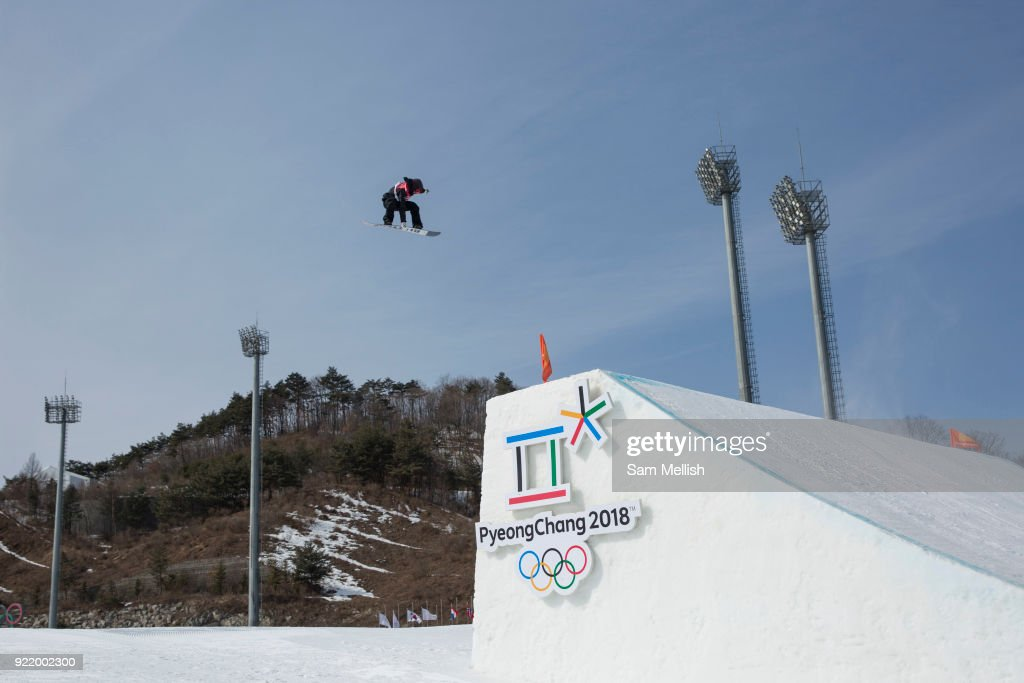 Peetu Piiroinen, Finland, during the men's snowboard big air qualification at the Pyeongchang 2018 Winter Olympics on February 21st 2018, at the Alpensia Ski Jumping Centre in Pyeongchang-gun, South Korea