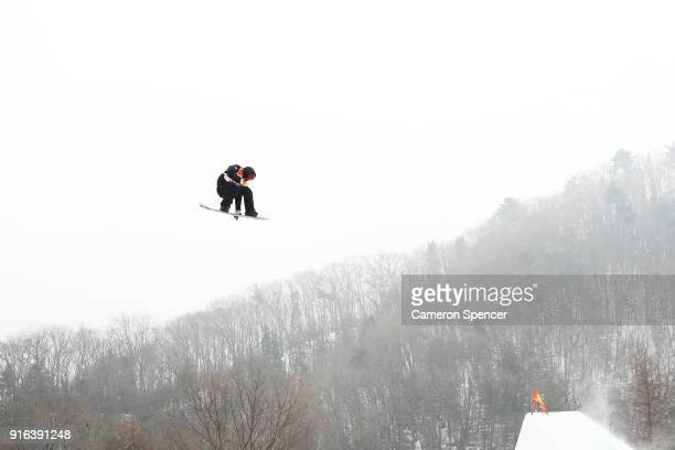 Peetu Piiroinen of Finland competes during the Men's Slopestyle qualification on day one of the PyeongChang 2018 Winter Olympic Games at Phoenix Snow...