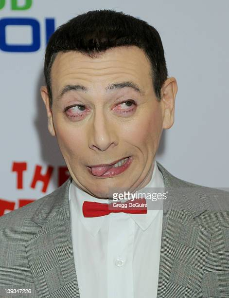 PeeWee Herman arrives at the Opening Night of 'The PeeWee Herman Show' at Club Nokia at LA Live on January 20 2010 in Los Angeles California