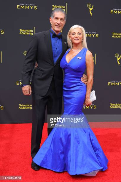 Peewee Piemonte and Julie Michaels attend the 2019 Creative Arts Emmy Awards on September 15 2019 in Los Angeles California