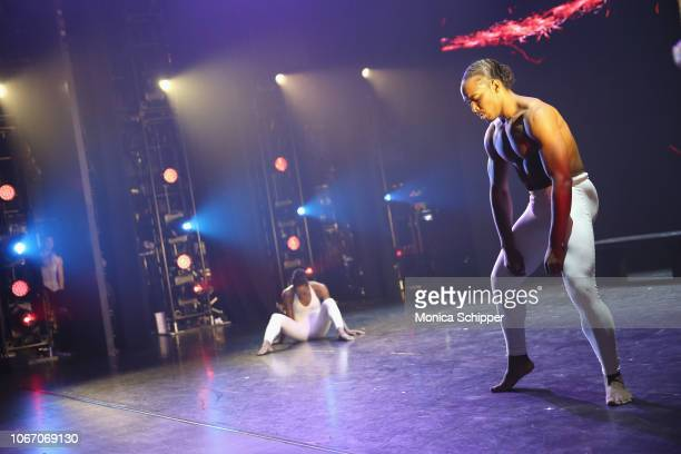 DADA peform onstage during AHF and Debbie Allen Present Keeping the Promise1000 Lives In Care Celebrating Icons of Dance at The Apollo Theater on...
