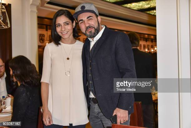 Pegah Ferydon and Adnan Maral at the FFF reception during the 68th Berlinale International Film Festival on February 22 2018 in Berlin Germany