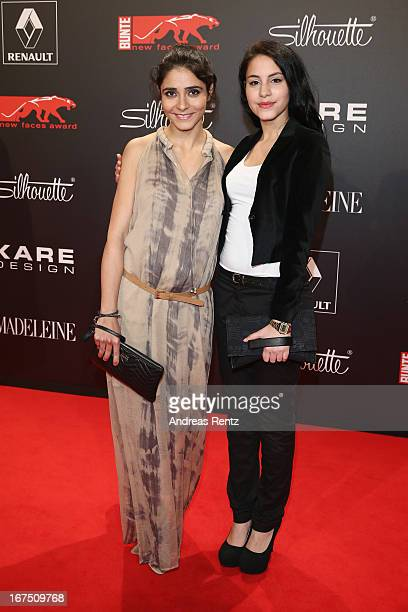 Pegah Ferydoni and Almila Bagriacik attend the new faces award Film 2013 at Tempodrom on April 25 2013 in Berlin Germany