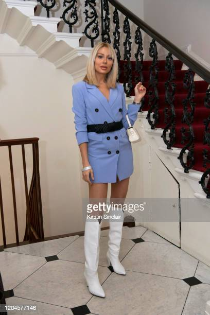 Pegah Pourmand Maison Bent AW20 Presentation at Pushkin House on February 06 2020 in London England