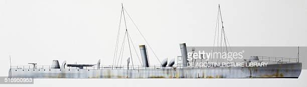 Pegaso high seas torpedo boat Italy drawing