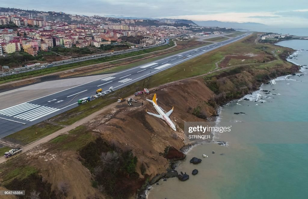 Miraculous Escape As Plane Slides Off Runway In Turkey