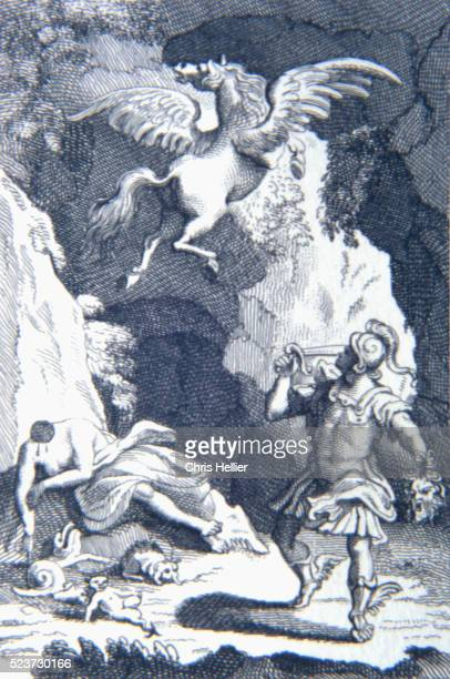pegasus ascending by william hogarth - greek god stock pictures, royalty-free photos & images