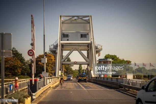 pegasus bridge, bénouville, france - allied forces stock pictures, royalty-free photos & images