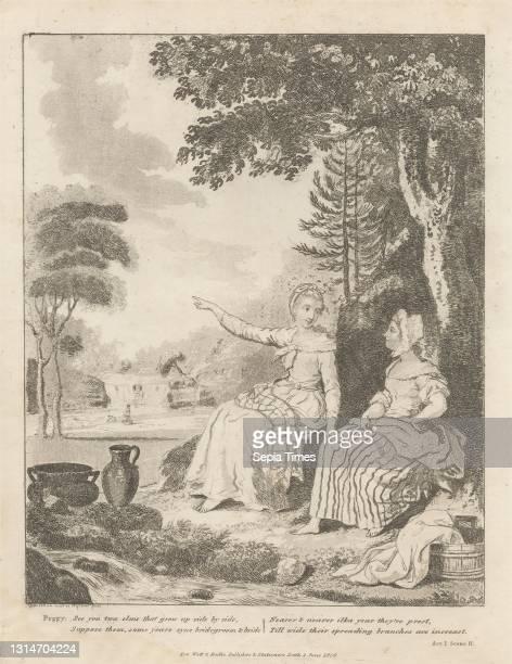 Peggy Advocates a Sweetheart, Print made by David Allan, 1744–1796, British, born in Scotland, after David Allan, 1744–1796, British, born in...