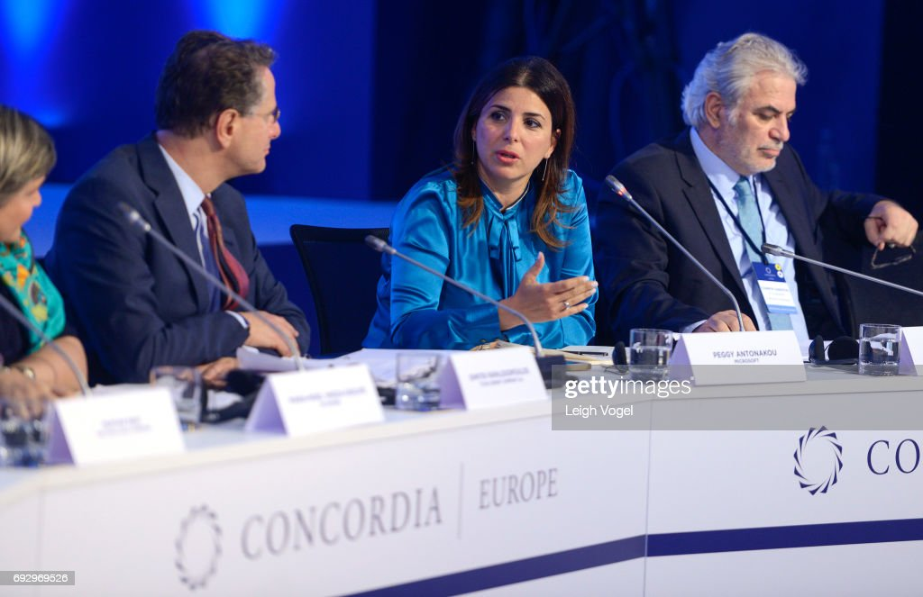 Peggy Antonakou, CEO, Microsoft Hellas speaks during the Concordia Europe Summit on June 6, 2017 in Athens, Greece.