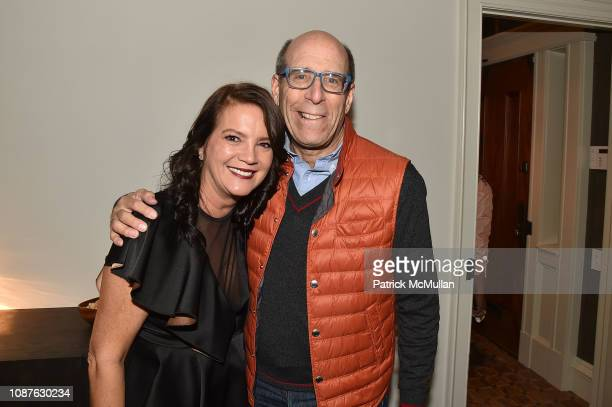 Peggy Bonapace Gelfond and Matthew Blank attend Daniel Libeskind's Edge Of Order Book Launch At Rich And Peggy Gelfond's Residence at Private...