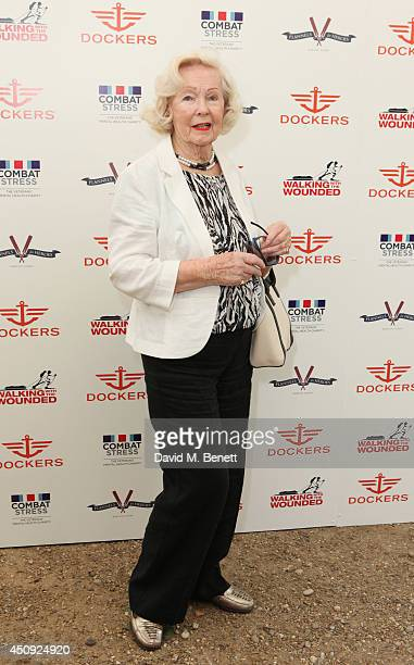 Peggy Cummins attends the 'Dockers Flannels For Heroes' cricket match at Burton Court Chelsea on June 20 2014 in London United Kingdom