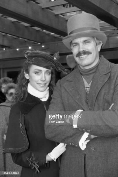 Peggy Fleming and husband Greg Jenkins attend the opening ceremony for Wollman Rink in Central Park on November 13 1986 in New York New York
