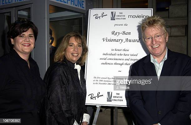 Peggy Fries Ray Ban Robin Bronk Creative Coalition and John Evans Movieline
