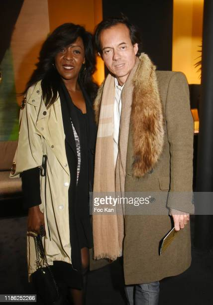 Peggy Joly and Stephane Ruffier Meray attend the Red X BHV Marais Ephemere Boutique Launch Party on November 07 2019 in Paris France