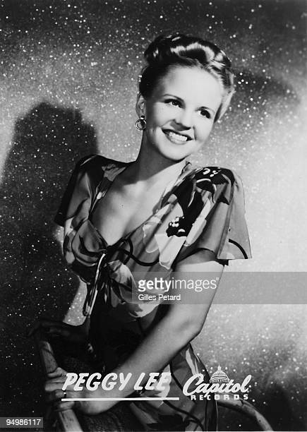 Peggy Lee poses for a studio portrait in 1944