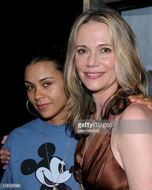 Peggy Lipton book signing in Hollywood United States on August 17 2005 Peggy Lipton and daughter Kidada Jones at Book Soup