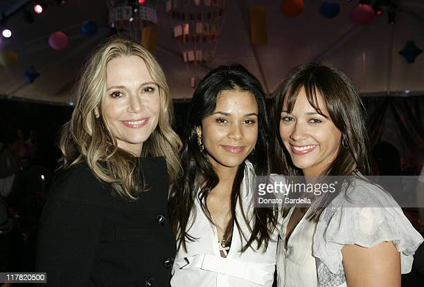 Peggy Lipton Kidada Jones and Rashida Jones during Disney's Alice in Wonderland Mad Tea Party at Private Residence in Los Angeles California United...