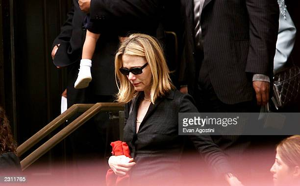 Peggy Lipton leaving RB singer Aaliyah's memorial service at St Ignatius Loyola Roman Catholic Church in New York City 8/31/2001 Photo Evan...