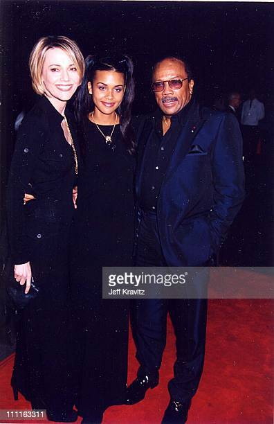 Peggy Lipton Quincy Jones and there daughter during 1996 Fire Ice Ball at Warner Bros Studios in Burbank California United States